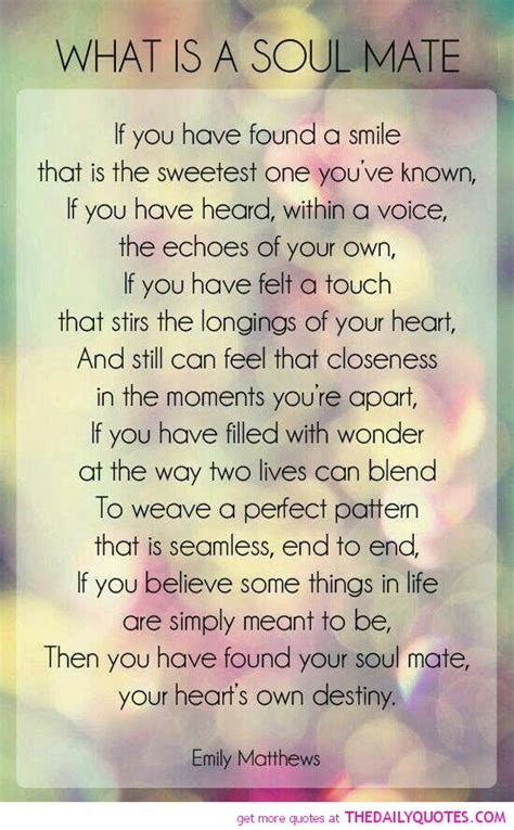 Birthday Quotes For Soulmate Soul Mate Poems And Quotes Quotesgram