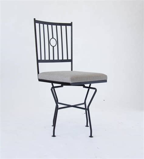 Wrought Iron Dining Chairs For Sale Set Of Four Swivel Wrought Iron Patio Dining Chairs For Sale At 1stdibs