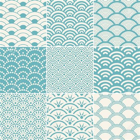 wave pattern vector ai seamless ocean wave pattern royalty free cliparts vectors