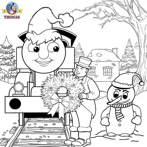 tank engine winter coloring december 2012 the tank engine friends free