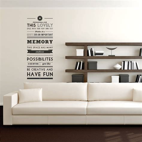 wall quotes wall decals comfort personalised quote wall sticker by oakdene designs