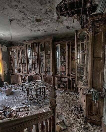 18th floor library a library inside an abandoned 19th century