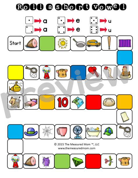 printable short vowel board games 26 free games that teach short vowel sounds mom free