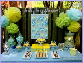 Blue And Yellow Decor Blue Yellow Baby Shower Pizzazzerie