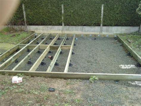 Comment Construire Un Escalier En Béton 3795 by Terrasse Composite Sur Plots 224 Verin Sans Dalle B 233 Ton