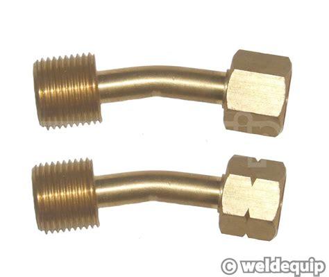 Adaptor Gas gas hose adaptors bent type weldequip
