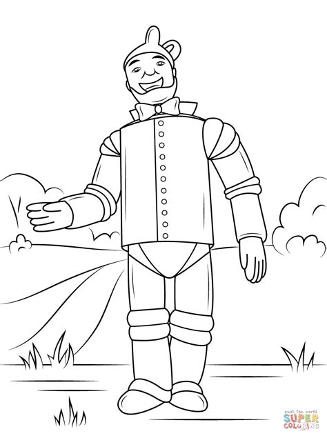tin man coloring pages coloring pages