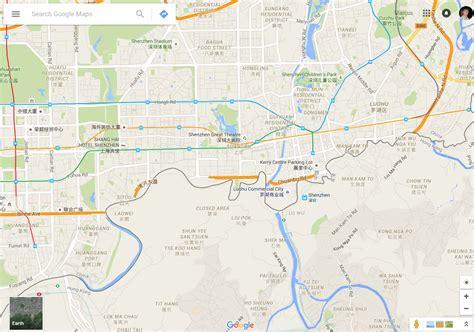 Bordir Hk distorted maps on the hong kong china border