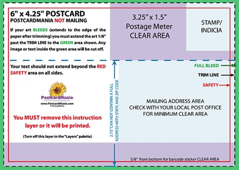 Postcard Design And Mailing Free Templates 4 215 6 5 215 7 6 215 11 Standard Size Printing Standard Postcard Template
