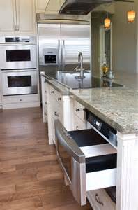 kitchen island with microwave drawer discover the pull of microwave drawers
