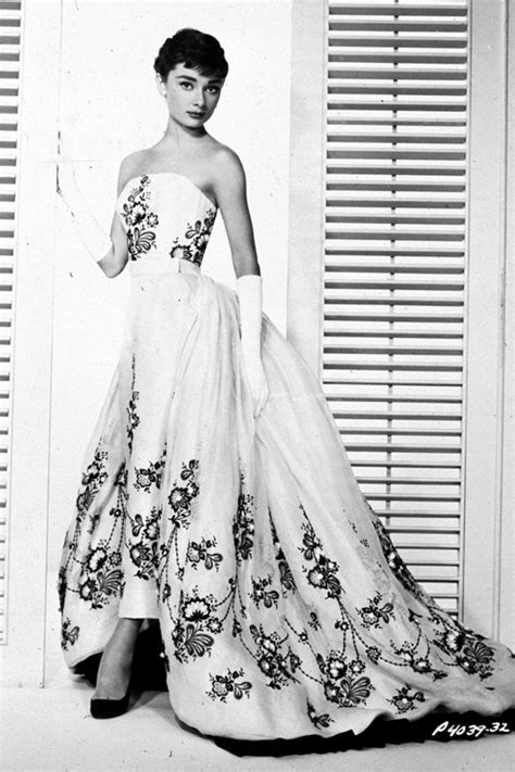 Dress Sabrina Flower Black 081514 vintage wedding dress inspiration hepburn