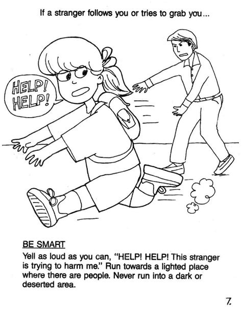 kid danger coloring page gulfmik f1b14e630c44 stranger danger coloring pages 7 scream help tx