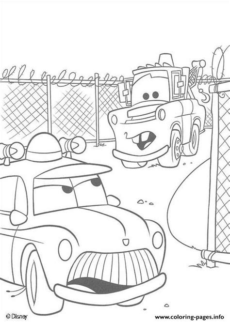 coloring pictures of mater from cars mater tall tales disey cars 2 coloring pages printable