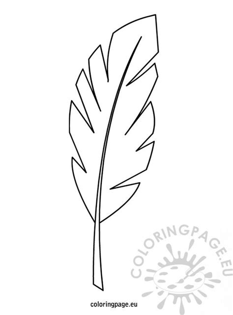 palm leaf template printable palm branch template coloring page