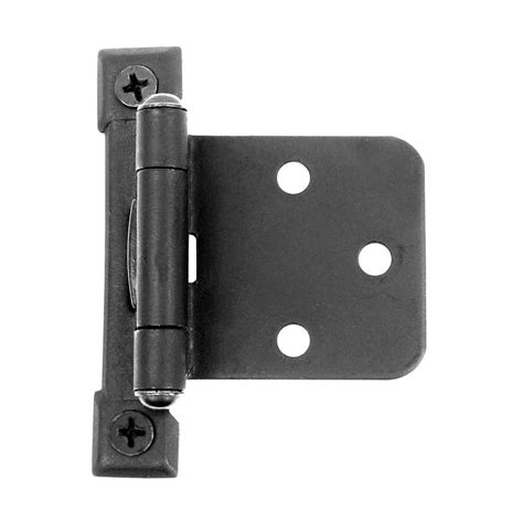 flush overlay semi concealed hinge black iron aj4bq by