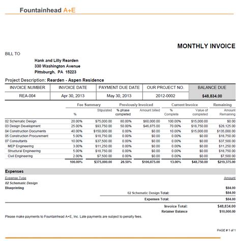 weekly invoice template a stunning open house for architects bqe