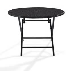 patio table sets folding outdoor:  palm harbor outdoor wicker round x folding table efurniture mart