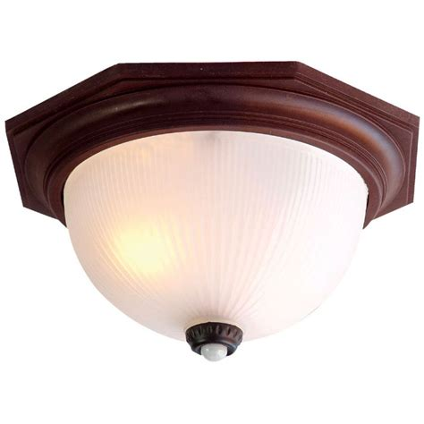 Outdoor Ceiling Lights With Motion Sensors Acclaim Lighting 75abzm Architectural Bronze Outer Banks 2 Light 14 Quot Width Outdoor Flushmount