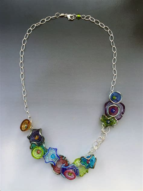 Handmade Glass Bead Jewelry - octopus garden necklace handmade glass lwork
