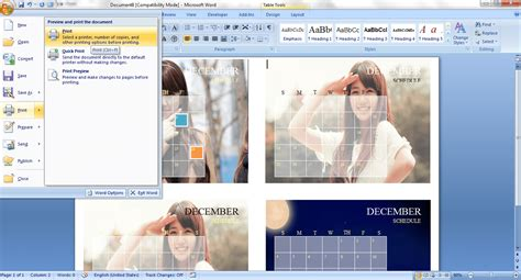 how to make a calendar in word 2007 how to create a custom calendar in ms word 2007 guide