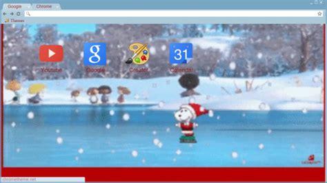 chrome themes winter happy holidays snoopy chrome theme themebeta