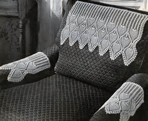 crochet arm chair covers pattern crochet patterns only