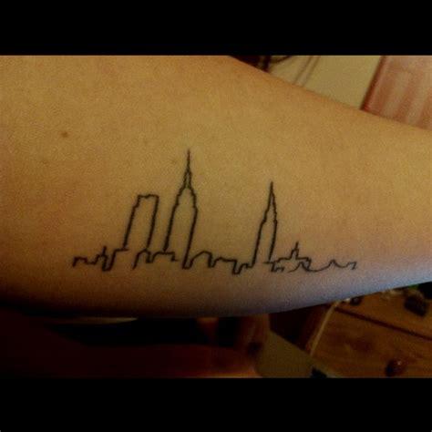 boston skyline tattoo my new york skyline inner forearm just for