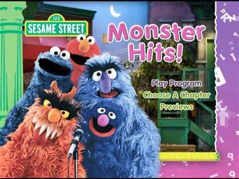 Sesame Street Monster Hits DVD Menu - YouTube Sesame Street Monster Hits