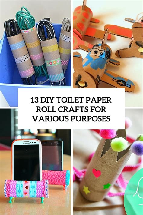 Diy Toilet Paper Roll Crafts - 13 diy toilet paper roll crafts for various purposes