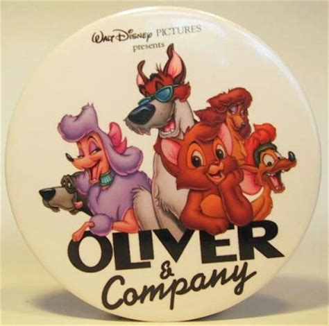 oliver  company button   buttons collection disney collectibles  memorabilia