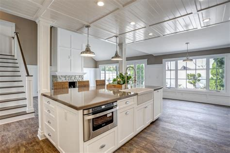 kitchen home design transitional medium tone wood floor kitchen photo page hgtv