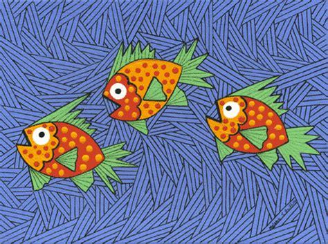 tree fish three fish print by key west artist melanie griffiths