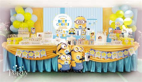 Minion Baby Shower Decorations by Despicable Me Minions Baby Shower Ideas Photo 7