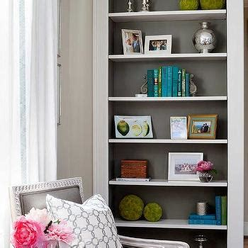 How To Paint Built In Bookshelves Back Of Built In Bookcase Painted Gray