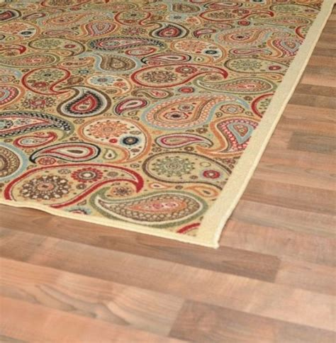 Rubber Backed Area Rugs New Multi Paisley Floral Design Rubber Backed Non Slip