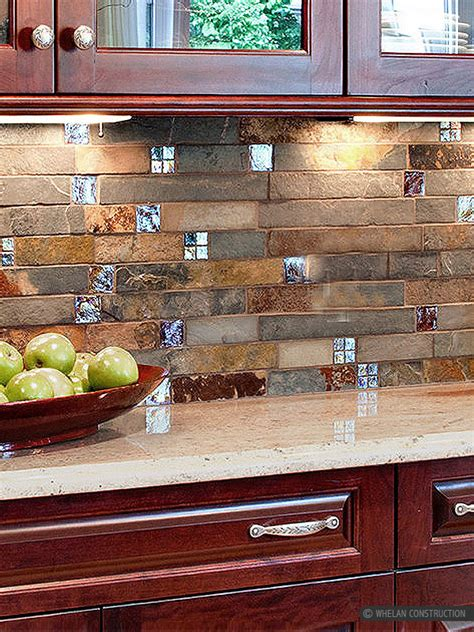 slate backsplashes for kitchens subway slate glass mosaic kitchen backsplash tile