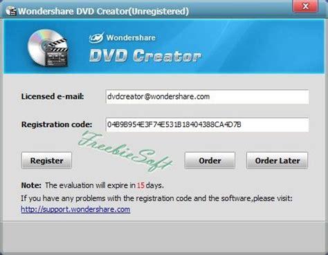 free wondershare dvd creator freebiesoft
