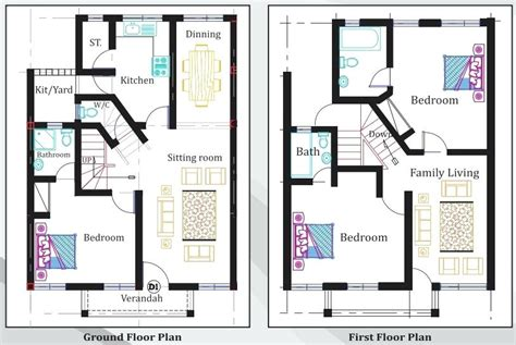 3 bedroom flat plan drawing 3 bedroom bungalow floor plans nigeria memsaheb net
