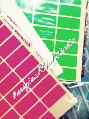 Blank Sticker Label Stiker Label Kosong Siap Tulis Bs06 fafatintin june 2015