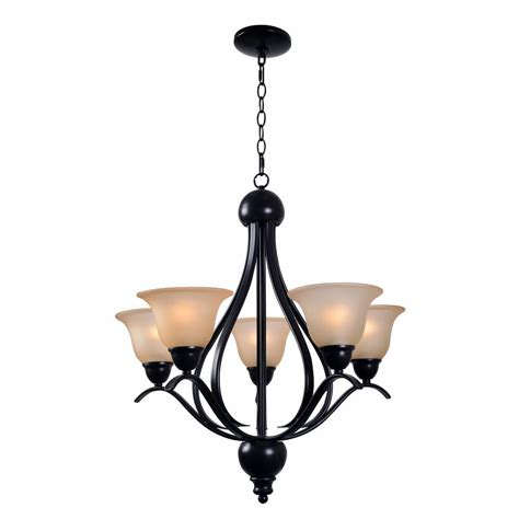 Home Depot Chandelier Shades Kenroy Home Harris 5 Light Bronze Chandelier With Glass Shade 93735brz The Home Depot