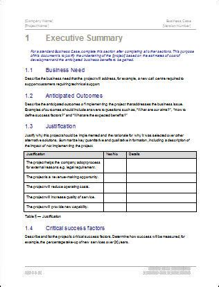 business justification template business template 22 pages ms word with free sle