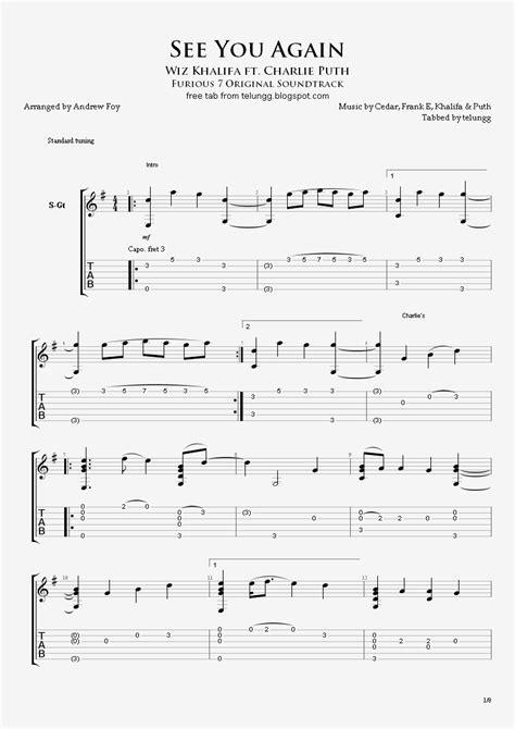 tutorial guitar see you again hmmm fingerstyle guitar tabs see you again wiz khalifa