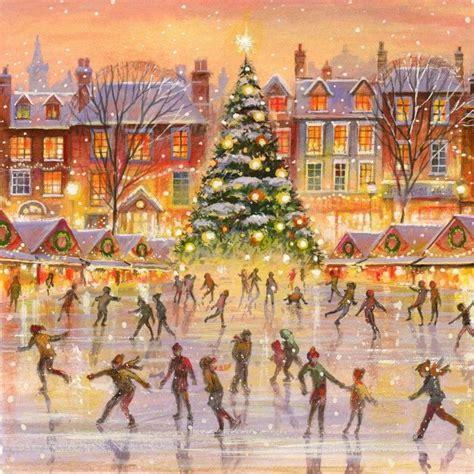 jim mitchell artist christmas illustration christmas art christmas scenes