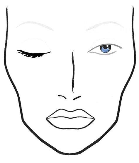 makeup template makeup template chart