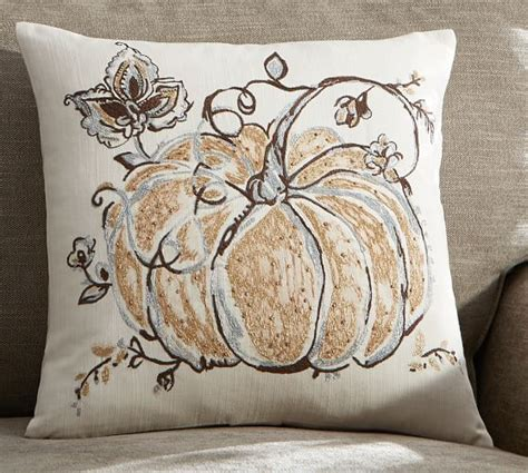 Pottery Barn Pumpkin Pillow by Gilded Pumpkin Palore Pillow Cover Pottery Barn