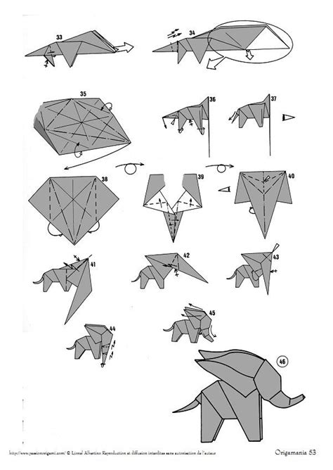 How To Make An Elephant Out Of Paper - 25 best ideas about origami elephant on