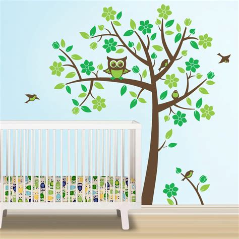 Owl Tree Decal Owl Nursery Theme Tree Wall Decal To Match Owl Wall Decals For Nursery