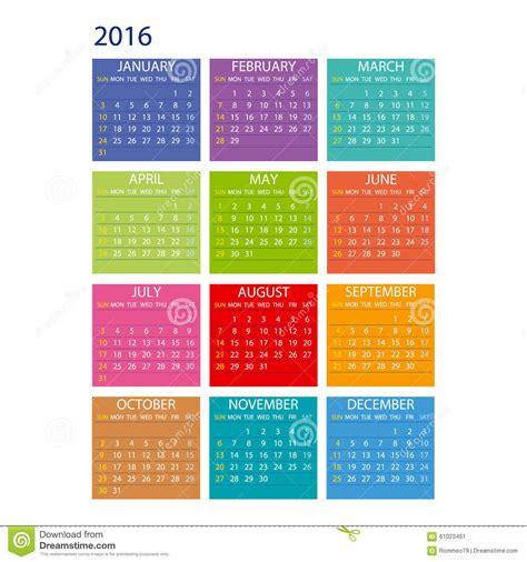 design dates calendar 2016 calendar simple design vector date template month