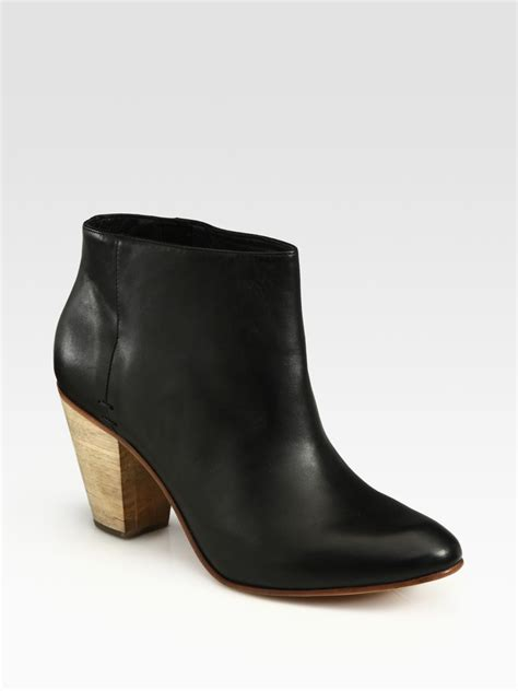 comey boots comey dazze leather ankle boots in black lyst