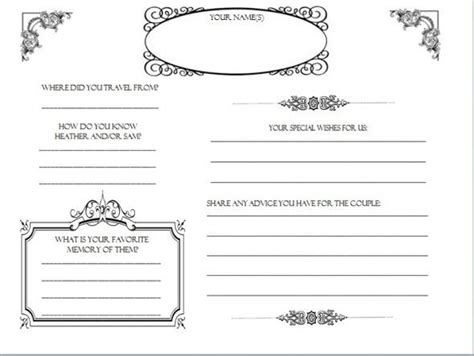 guest book template scrapbook guestbook templates weddingbee